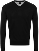 Armani Exchange V Neck Jumper Black