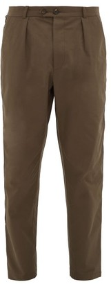 Alexander McQueen Side-striped Zipped-cuff Cotton Chinos - Mens - Khaki