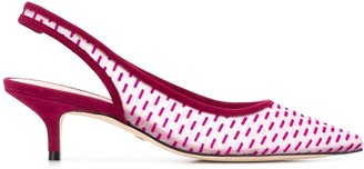 Stuart Weitzman Veas 55mm geometric-pattern pumps
