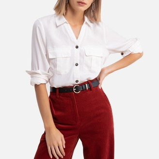 Only Draping Long-Sleeved Blouse