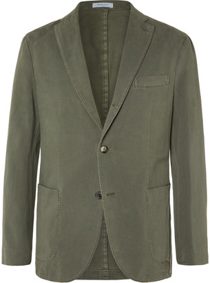 Boglioli Brown Unstructured Cotton-Blend Drill Blazer