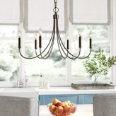 Laurèl Makushin 6-Light Candle Style Classic / Traditional Chandelier Foundry Modern Farmhouse Finish: Polished Silver