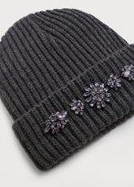 Violeta BY MANGO Crystal appliqués hat
