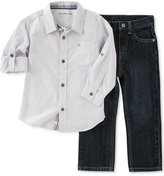 Calvin Klein Little Boys' 2-Pc. Woven Shirt Set