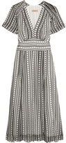 Burberry Printed Silk Dress - White