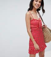 Parisian Tall Polka Dot Cami Dress With Bow