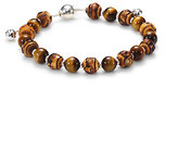 Gucci Bamboo, Tiger's Eye & Sterling Silver Beaded Bracelet