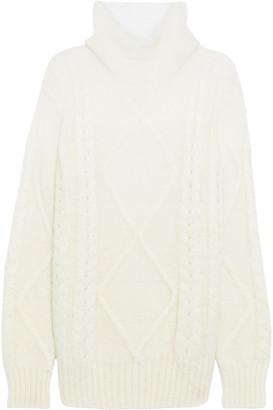 Maison Margiela Oversized Cable-knit Mohair-blend Turtleneck Sweater