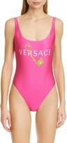 Versace Pin Logo One-Piece Swimsuit