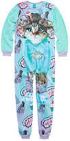 Asstd National Brand Long Sleeve One Piece Pajama-Big Kid Girls