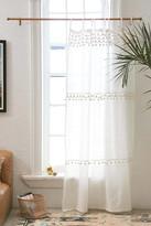 Urban Outfitters Averi Pompom Gauze Window Curtain