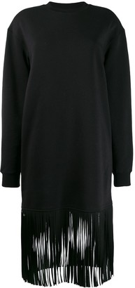 MSGM Fringed Sweatshirt Dress