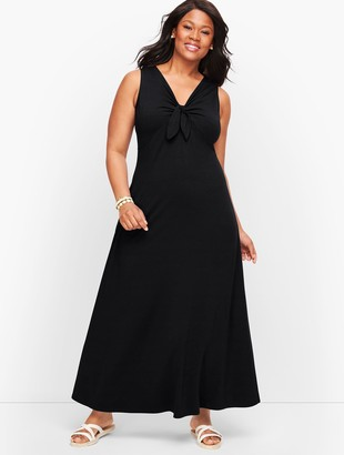 Talbots Jersey Tie Front Maxi Dress