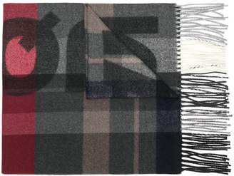 DSQUARED2 logo checked scarf