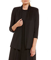 Kasper Petite Knit Concepts 3/4 Sleeve Cardigan Jacket