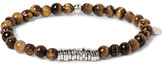 Tateossian Sterling Silver and Tiger's Eye Bead Bracelet