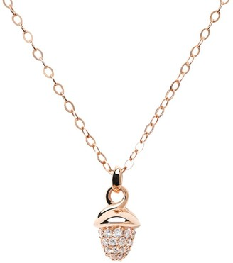 Tamara Comolli Mikado 18K Rose Gold & Diamond Pave Acorn Pendant Necklace