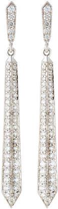 Penny Preville 18k White Gold Diamond Thin Deco Earrings