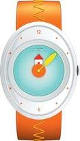 Alessi Kids' AL20001 Millennium Jr. Orange Strap with House Watch