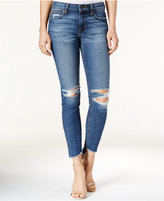 Joe's Jeans The Blondie Ripped High-Low Hem Coppola Wash Ankle Jeans