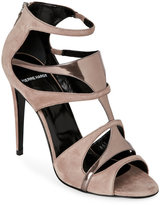 Pierre Hardy Nude & Bronze Open Toe High Heel Caged Sandals