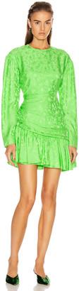 Les Rêveries Ruched Long Sleeve Fairy Dress in Rose Jade | FWRD