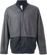 Isabel Benenato bomber jacket - men - Linen/Flax/Leather/Wool - XS