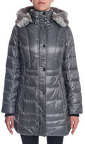 Novelti Faux Down Water Repellant Hooded Coat
