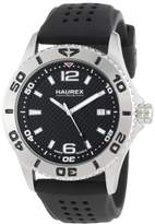 Haurex Italy Men's 3A500UNN Factor Stainless Steel Watch with Rubber Band