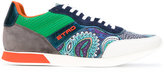 Etro printed panel sneakers - men - Leather/Suede/rubber - 41
