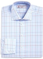 Turnbull & Asser Windowpane Classic Fit Dress Shirt - Bloomingdale's Exclusive