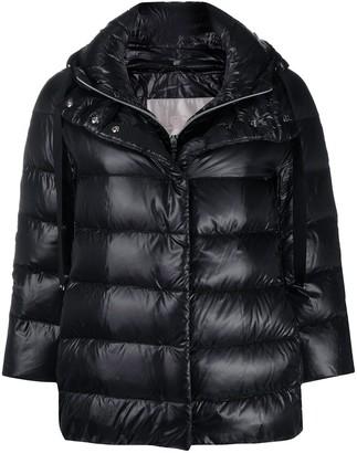 Herno Crop-Sleeve Padded Jacket