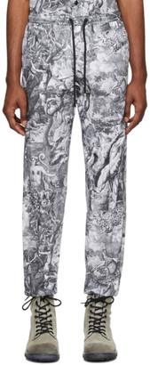 Diesel Black and White P-Toll-Kaos Lounge Pants