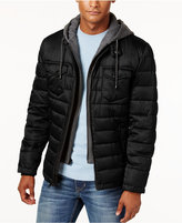 Buffalo David Bitton Big & Tall Men's Puffer Jacket with Jersey Hood