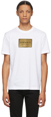 Versace White Address Plate Taylor T-Shirt