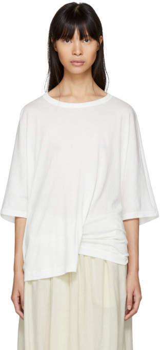 Y's Ys Off-White Drape T-Shirt