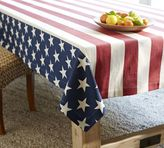 Pottery Barn American Flag Tablecloth