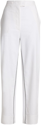 Cédric Charlier Cotton-blend Straight-leg Pants