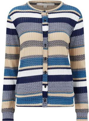 Nougat Almeria Stripe Cardigan