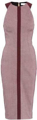 Victoria Beckham Cotton-blend midi dress