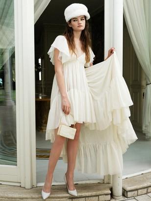 Giambattista Valli Asymmetric Silk Georgette Dress