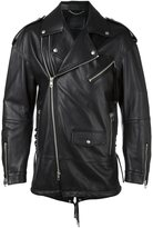 Diesel Black Gold multiple zippers biker jacket - men - Cotton/Leather/Rayon - 52