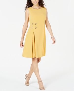 JM Collection Petite Grommet-Waist Dress, Created for Macy's