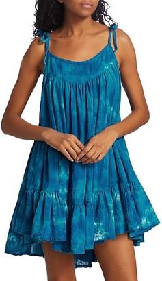 HONORINE Peri Tie-Dye Tiered Dress