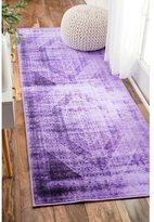 nuLoom Vintage Overdyed Purple Runner Rug (2'8 x 8')