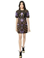 Manish Arora 3d Embroidered Quilted Neoprene Dress