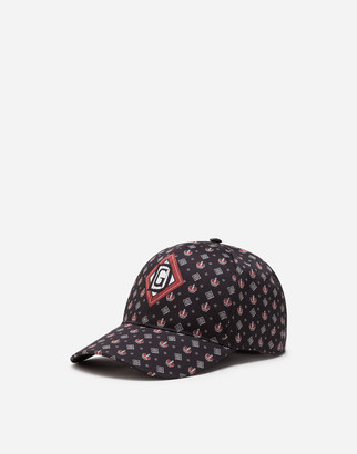 Dolce & Gabbana Stretch Cotton Baseball Cap With Bandana Print
