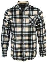 Brave Soul Mens Brushed Printed Check Shirt - S