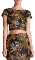 Dress the Population 'Gigi' Sequin Crop Top
