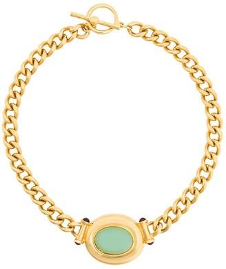 Susan Caplan Vintage 1990s Vintage Elizabeth Taylor Cabochon Necklace